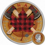 Canada CANADIAN WOODCUTTER Canadian Maple Leaf series THEMATIC DESIGN $5 Silver Coin 2017 High quality 1 oz